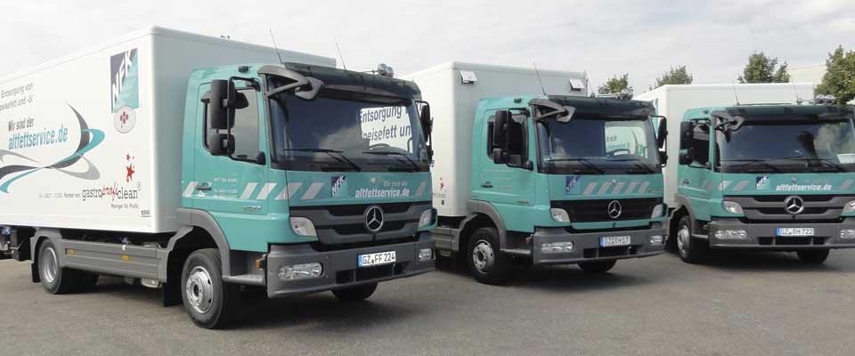 NFK Süd GmbH altfettservice.de Fahrzeugflotte für Altfettentsorgung